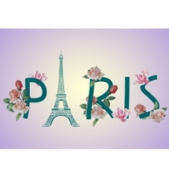 Paris text design vector image