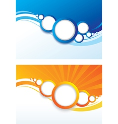 set of abstract color background vector image vector image