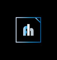 A h letter logo vintage designa h letter logo vector