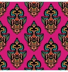 Abstract damask seamless design vector