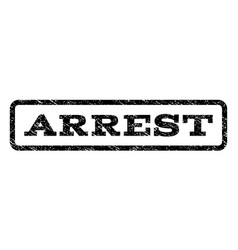 Arrest watermark stamp vector