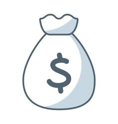 Bag money flat line icon vector