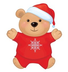 Bear santa claus vector