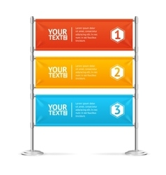 Blank Banner Flags Colorful Horizontal With Text vector