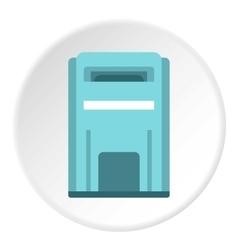 Blue inbox icon flat style vector