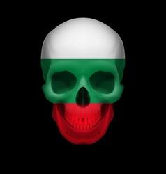 Bulgarian flag skull vector