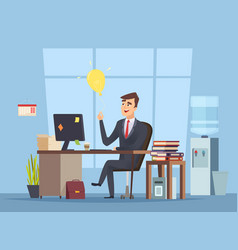 Business idea search office manager have smart vector