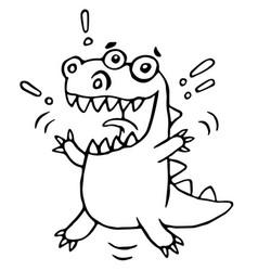 cartoon lucky dragon vector image