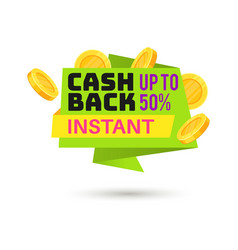 cashback label symbol sale shopping tag vector image