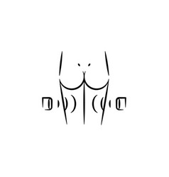 Cellulite removal icon element anti aging icon vector