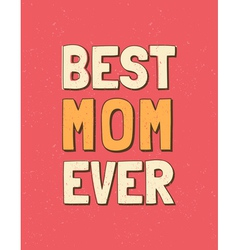 colorful mothers day retro greeting card design vector image