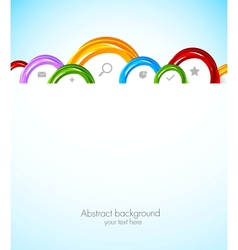 Colorful web template vector image