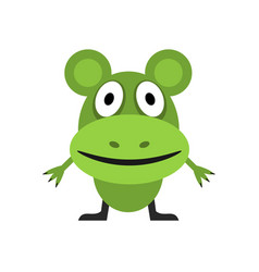 Cute green mouse vector