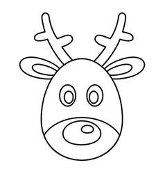 Deer head icon outline style vector