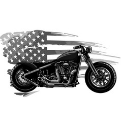 Design chopper motorcycle with american flag vector
