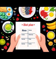 diet plan vector image