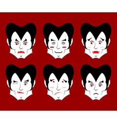 Dracula Emotions Set expressions vampire avatar vector image