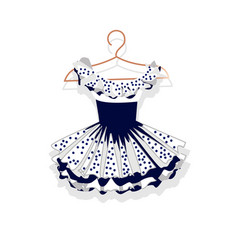 dress with a lush skirt on hanger vector image