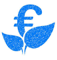 euro agriculture startup icon grunge watermark vector image