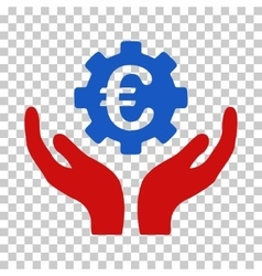 Euro Maintenance Hands Icon vector