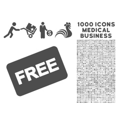 Free Card Icon with 1000 Medical Business vector