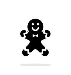 Gingerbread man icon on white background vector