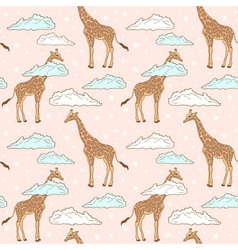 Giraffe pink big vector