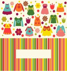 girl fashion clothing background vector image