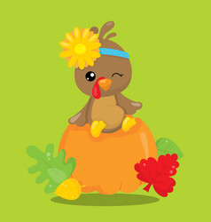 Gobble give thanks trunk 06 vector