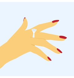 Hand with ring vector