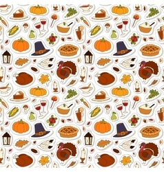 Happy Thanksgiving Day seamless pattern vector image