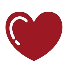 heart red drawing isolated icon design vector image