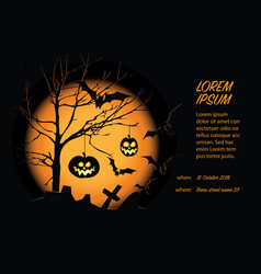 helloween card template vector image