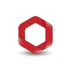 hexagon logo concept vector image