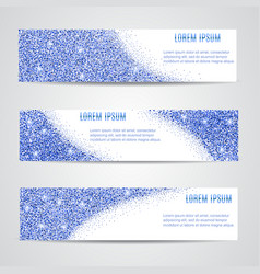 Horizontal blue Banners Set vector image