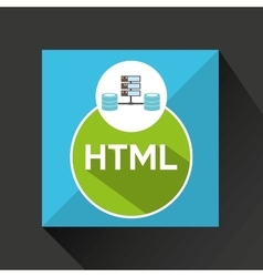 Html language data base storage vector