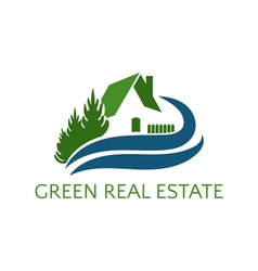 Icon house for real estate business vector image
