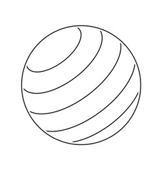 icon of fitness rubber ball vector image