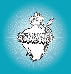 immaculate heart blessed virgin mary tattoo vector image