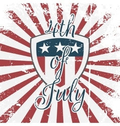 Independence day 4th july holiday shield vector