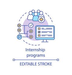 Internship program concept icon vector