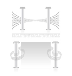 Ionic column with greek key pattern vector