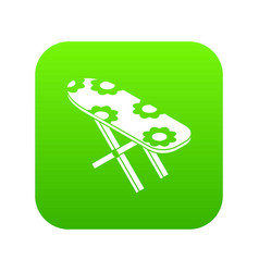 ironing board icon green vector image