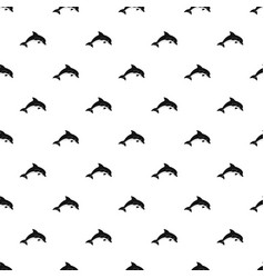jumping dolphin pattern vector image