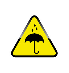Keep dry sign icon vector