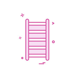 labour stairs icon design vector image
