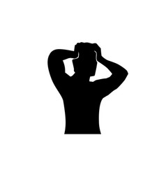 man with headache vector image