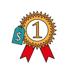 medal first place isolated icon vector image