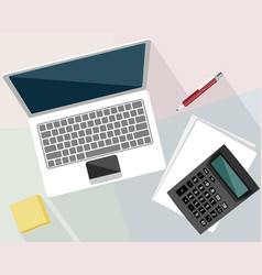 objects in the workplace vector image