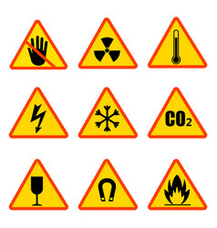 Occupational safety and health icons vector